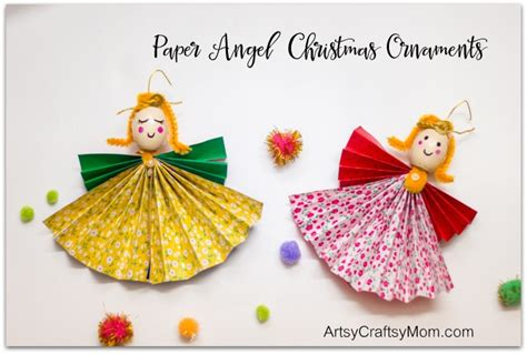 paper angel christmas ornaments artsy