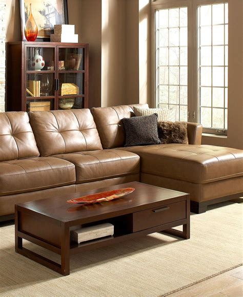 Living Room Furniture At Macy S by Martino Leather Sectional Living Room From Macys Furniture