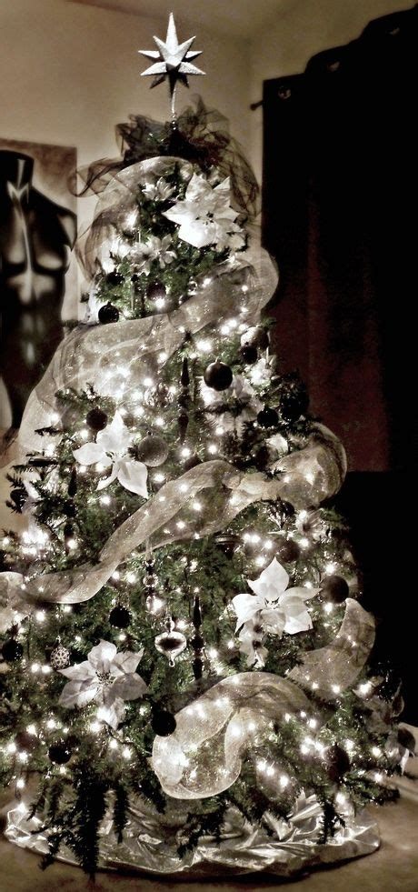 white silver christmas tree festival collections