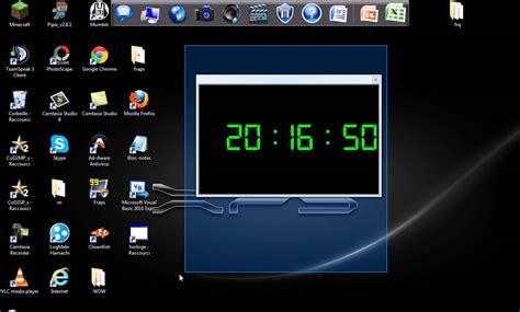 horloge bureau windows xp présentation de mon premier programme une horloge