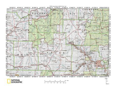 Gasconade River-White River drainage divide area landform ...