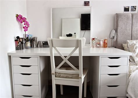 makeup desk with e h my makeup desk storage and organisation