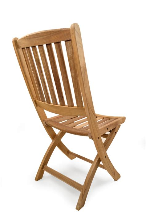 york folding teak side chair grade a teak furniture