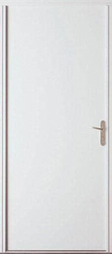 bel m porte de service psa1 en acier blanc 200x90 cm poussant droit point p