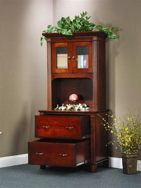 Lateral File Bookcase by Amish Executive Lateral File Cabinet With Open Hutch Bookcase