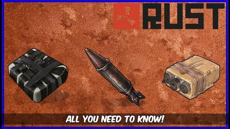 rust damage explosive rocket c4 satchel raiding charts