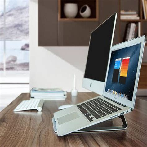 Macbook Air Desk Stand by Aluminum Laptop Stand Desk Table Cooling Pad For Macbook