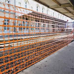 Protection Sol Pour Travaux : acheter filet de protection grillag orange pour chantier ou voie publique doublet ~ Melissatoandfro.com Idées de Décoration