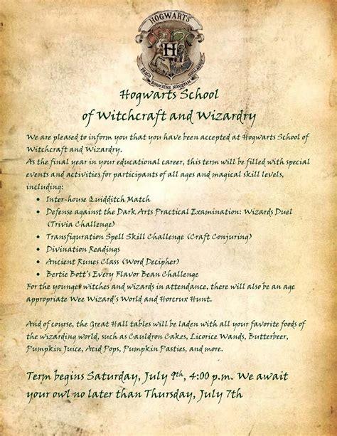 hogwarts letter template levelings