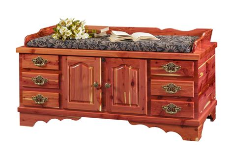 fancy front cedar chest  dutchcrafters amish furniture