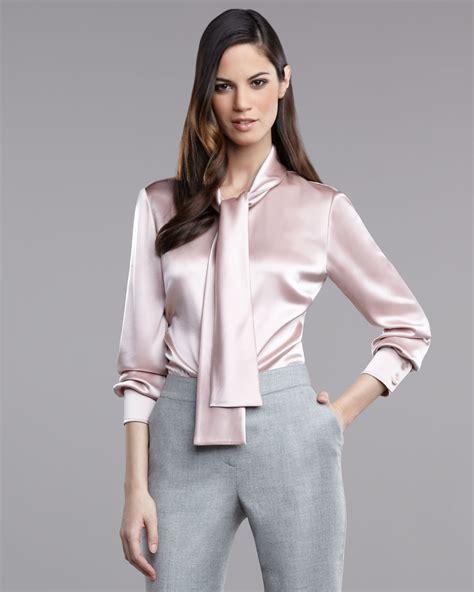 satin blouse st liquid satin blouse in pink lyst