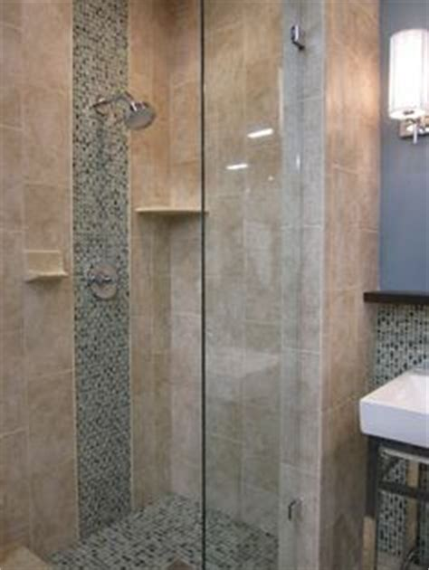 bathroom shower waterfall on tile showers and