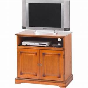 Meuble Tv Hifi : meuble tv plateau pivotant 2 portes louis philippe beaux meubles pas chers ~ Teatrodelosmanantiales.com Idées de Décoration