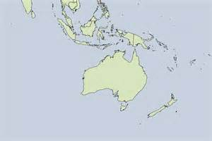 Blank Australia and Oceania Map