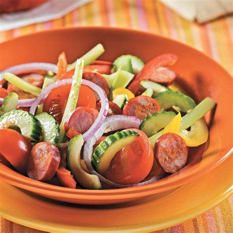 cuisine andalouse salade andalouse au chorizo recettes cuisine et nutrition pratico pratique