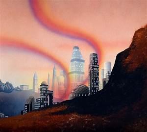 Futuristic CityScape Premade Background Stock 022 by ...