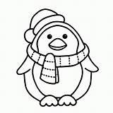 Coloring Penguin sketch template