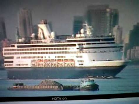 Veendam Cruise Ship Leaving New York - YouTube