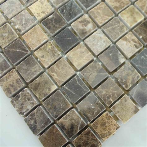 mosaic tile square brown pattern washroom wall