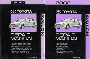 2002 Toyota Avalon Service Shop Repair Manual Set Oem 2 Volume Set Wiring Diagram