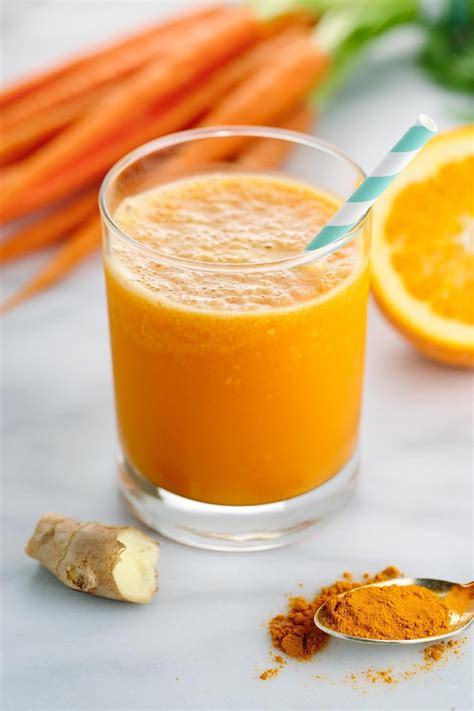 carrot ginger turmeric smoothie juice orange recipe benefits recipes health beverage oranges smoothies boost jessicagavin refreshing packed tasty vegetable fresh