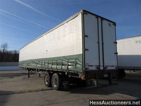 used 2001 utility 48 curtain side trailer for sale in pa