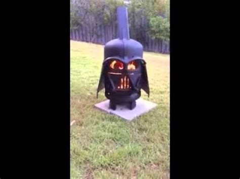 darth vader fire pit youtube