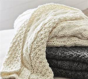 chunky cable knit throw get the look for less With chunky knit blanket pottery barn