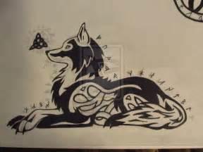 Celtic Tribal Wolf Tattoo Designs