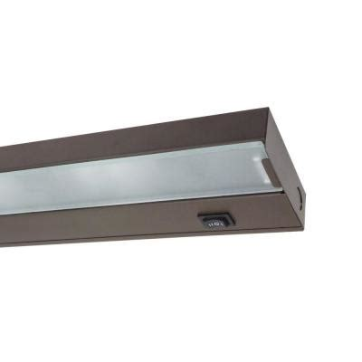 home depot cabinet lighting nicor 30 in xenon black cabinet light fixture