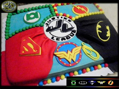Justice League Cake  Cody's Birthday Ideas Pinterest
