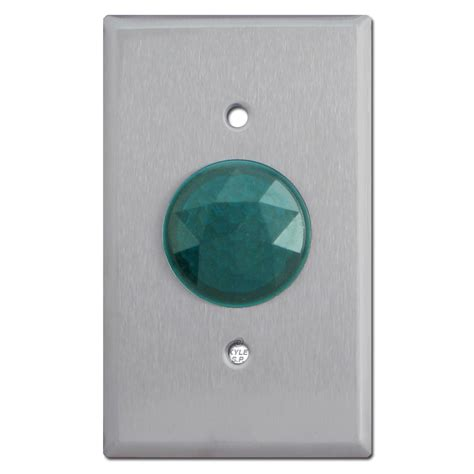 green circular faceted for pilot lighted wall switch