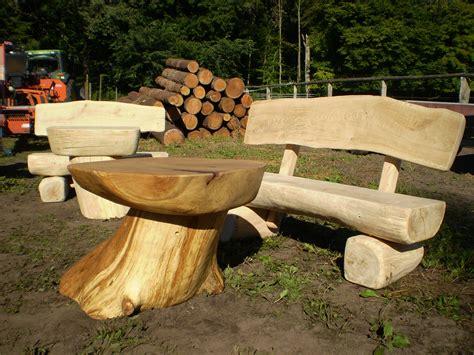 Rustikale Gartenmöbel Aus Massivem Eichenholz