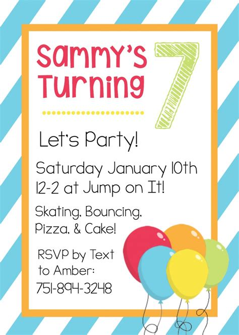 invitation template free printable birthday invitation templates