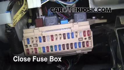 interior fuse box location   toyota sienna