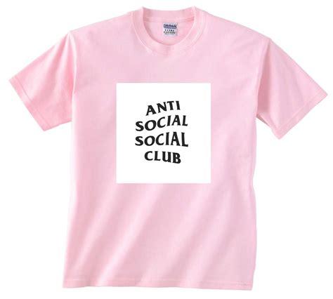 anti social social club light pink t shirt size s m l xl