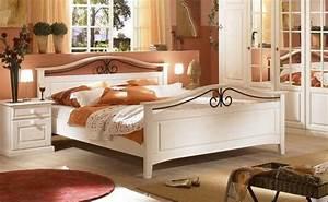 Bett 160 X 200 : bett 160 x 200cm sandra im landhausstil weiss pinie teilmassiv kaufen bei kapa m bel ~ Eleganceandgraceweddings.com Haus und Dekorationen