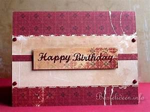 Geburtstagskarte Basteln Einfach : geburtstagskarten selber basteln mit scrapbookpapier dunkelrote karte ~ Orissabook.com Haus und Dekorationen