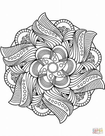 Mandala Flower Coloring Pages Mandalas Lotus Kleurplaat
