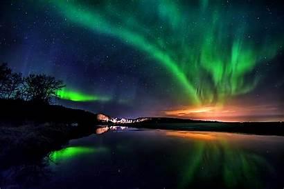 Aurora Borealis Wallpapers Background Earth Reflection Sky
