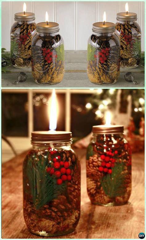 diy christmas mason jar lighting craft ideas
