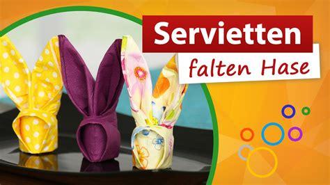 servietten falten hase servietten falten hase ostertisch dekorieren trendmarkt24