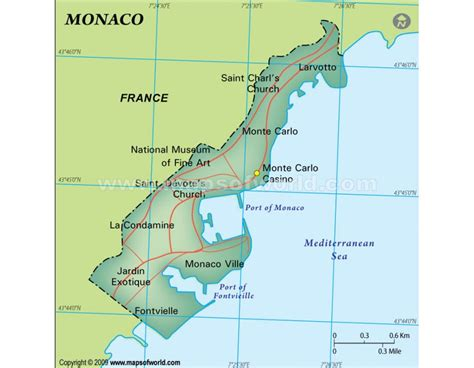 buy monaco map dark green