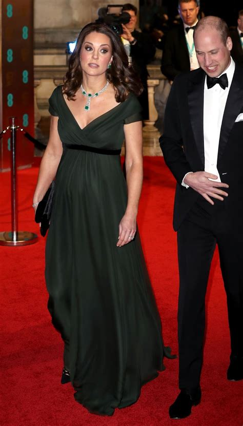 Pregnant Kate Middleton bares cleavage at the 2018 BAFTAs