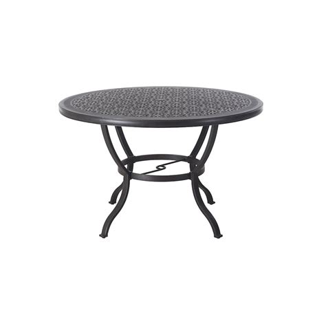 round folding table lowes shop allen roth 60 in w x 60 in l round aluminum dining