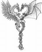 Dragon  Images of dragons and Heart sketch on Pinterest  Dragons And Hearts Drawings