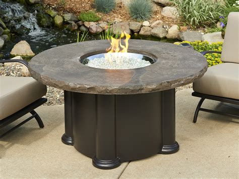 gas pit table outdoor greatroom marbleized noche colonial chat height