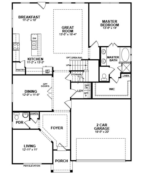 Beazer Homes Floor Plans 2006 by 2006 Rosebury Ln Avalon Home Plan In Devonshire Forney