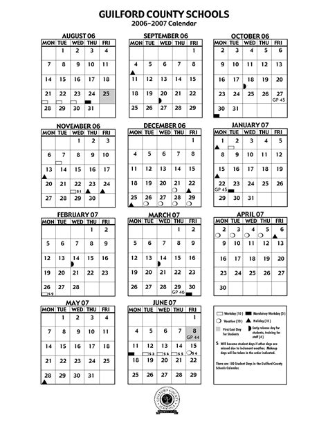 guilford county school calendar qualads