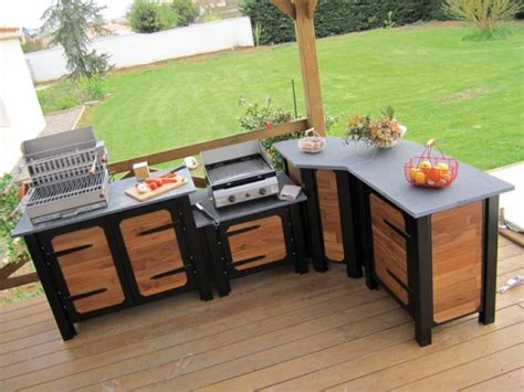 meuble de cuisine exterieur meuble d extérieur pour cuisine d été table de cuisine